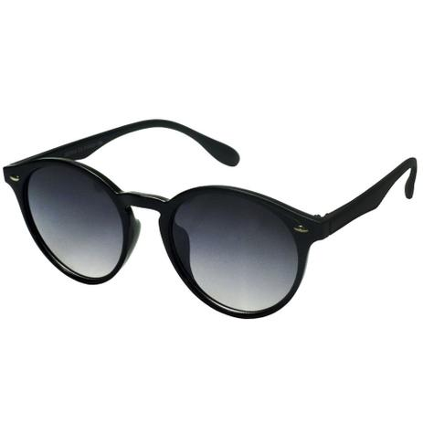 12723484d41ec Oculos Solar Redondo Retro Preto Masculino 704 - Izaker - Óculos de ...