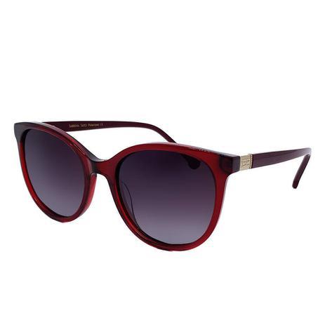 2a2121048 Óculos Solar Sabrina Sato Modelo SS383 - C2 - Vinho Acetato Lente  Polarizado Medidas 53-19-142