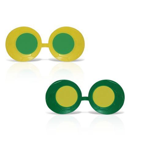 Óculos Zoião Verde e Amarelo 12 unidades Brasil - Festabox - Óculos ... a210d26899