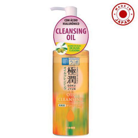 Óleo Demaquilante de Limpeza Facial Gokujyun Oil Cleansing Hada Labo 200ml