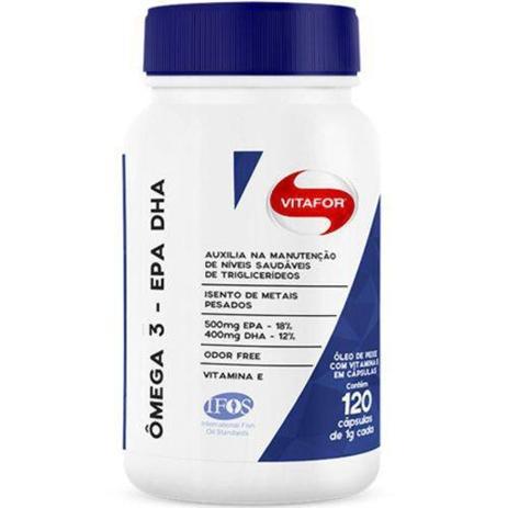 Imagem de Omega 3 EPA DHA Vitafor 120 caps (com selo IFOS)