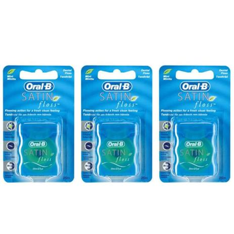 a99ee26d2 Oral B Satin Floss Fio Dental 25m (Kit C 03) - Fio Dental - Magazine ...