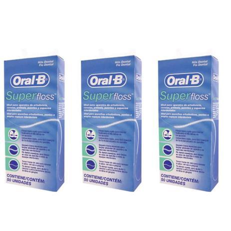 475915235 Oral B Super Floss Fio Dental 50m (Kit C 03) - Fio Dental - Magazine ...