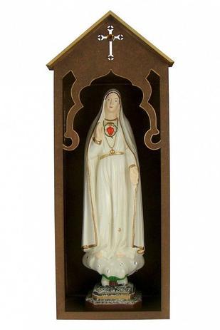 Imagem de Oratório com imagem de nossa senhora de fátima