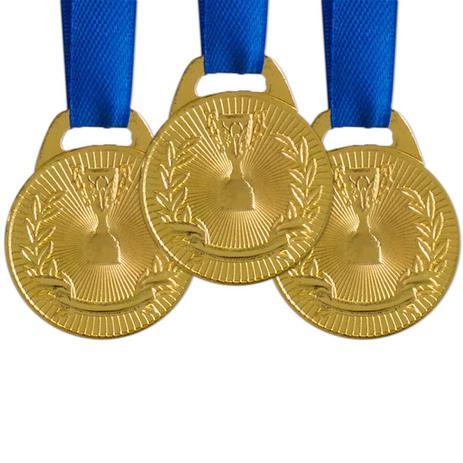 Imagem de Pack c/ 10 Medalhas AX Esportes 30mm H. Mérito Ouro-FA465
