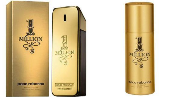730d39bac6 Paco Rabanne KIT - 1 Million Perfume Masculino Eau De Toilette 100 ml  Desodorante 1 Million 150 ml