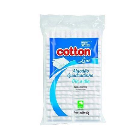 Imagem de Pacote Algodão Em Quadradinho Cotton Line 95g