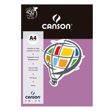 Imagem de Pacote Canson Color Lilás 180g/m² A4 210 x 297 mm com 10 Folhas - 66661198