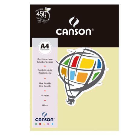 Imagem de Pacote Canson Color Marfim 180g/m² A4 210 x 297 mm com 10 Folhas - 66661206