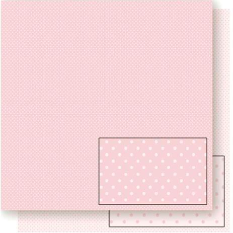 Imagem de Página para Scrapbook Dupla Face Litoarte 30,5 x 30,5 cm - Modelo SD-173 Poá Rosa Pequeno