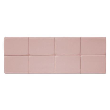 Imagem de Painel Cabeceira Estofada Nina 90 cm para Cama Box Solteiro Suede Rosê Quarto - AM Decor