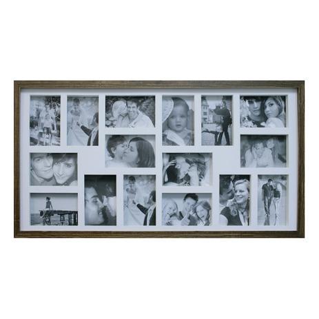 Imagem de Painel de Fotos Bee Collection  43X83 Rustics 16 Fotos 10x15 Imbuia Kapos