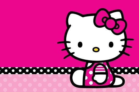 Painel Festa Hello Kitty 150x100cm X4adesivos Painel De Festas