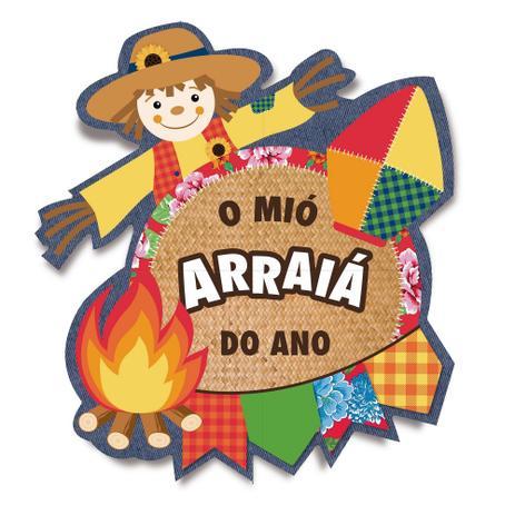 Imagem de Painel Gigante 4 Laminas Espantalho 145X132 Festa Junina