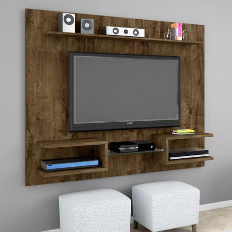 Imagem de Painel para TV 55 Polegadas Atlas Madeira Rústica 163 cm