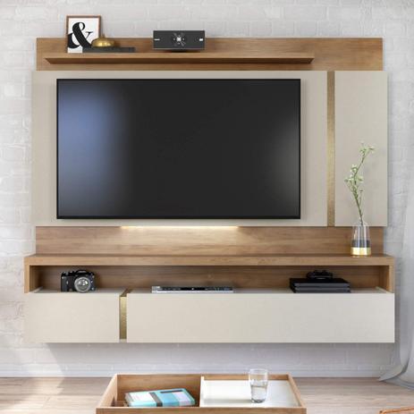 Porta Tv Lumina.Painel Para Tv Ate 60 Polegadas Lumina Caemmun Moveis