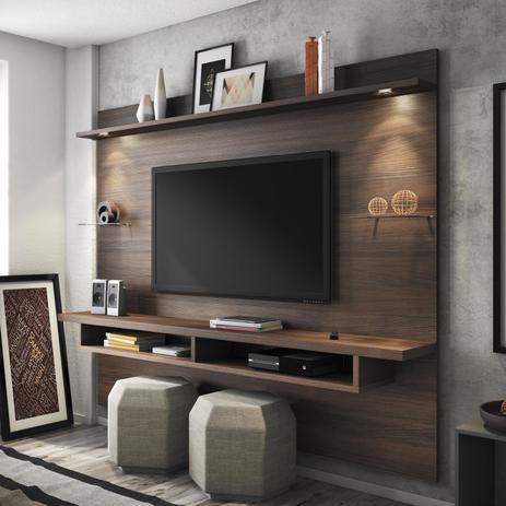 Imagem de Painel para TV até 60 Polegadas Veneza Linea Brasil Chocolate Wood
