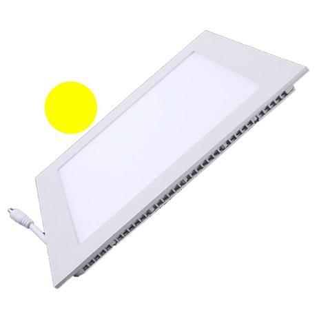 Imagem de Painel Plafon Led 25W Embutir Quadrado Branco Quente