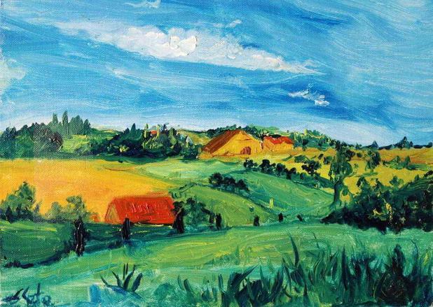 paisagem de brabant van gogh tela enorme para quadro santhatela