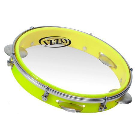 Imagem de Pandeiro 10 pol abs amarelo neon c/pele transparente izzo