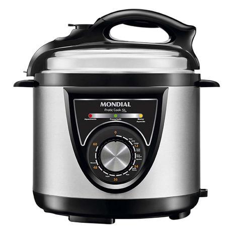 Imagem de Panela de Pressão Elétrica Mondial Pratic Cook PE-34 5 Litros 110V