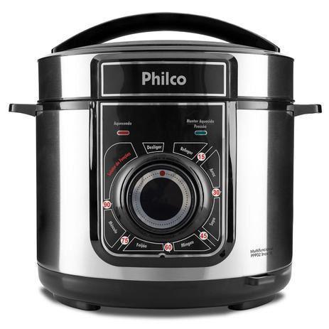 Imagem de Panela de pressao eletrica multifuncional philco 5l 127v ppp02 inox