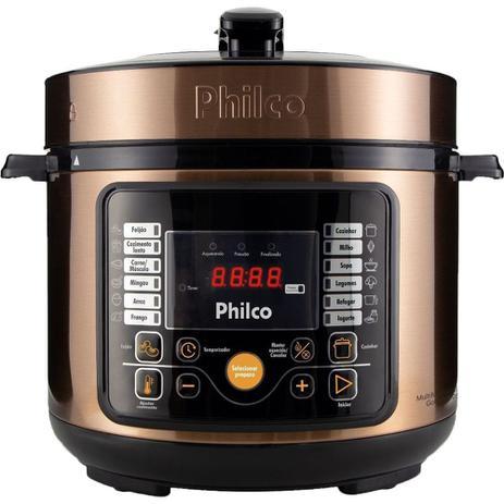 Imagem de Panela De Pressão Elétrica Philco 5L Multifuncional Digital 15 Funções Gold 110v
