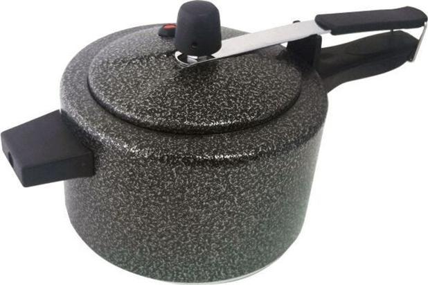 Imagem de Panela de pressão preta pequena craqueada 2,5 L