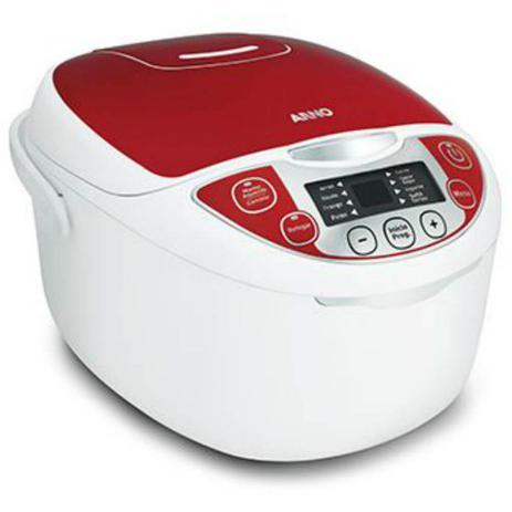 Imagem de Panela Elétrica Arno Multicooker FC22 220V Branca e Vermelha com 12 Funções Capacidade de 5L