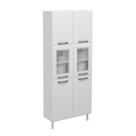 Imagem de Paneleiro Duplo 2 Portas de Vidro Portas Safira Telasul Branco