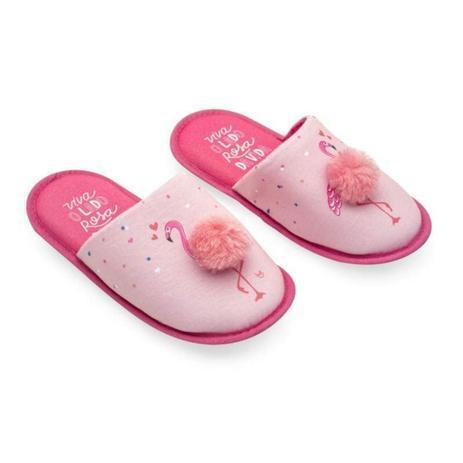 88cd3b8edcbfeb Menor preço em Pantufa Com Pompom Flamingos G Ludi