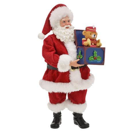 Imagem de Papai Noel Decorativo Caixinha de Presente 27cm Espressione Christmas