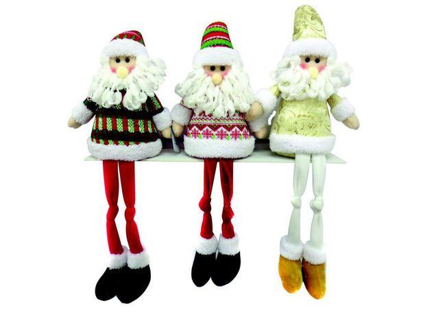Imagem de Papai Noel natalino Rocie c/peso Ntd1014 tamanho 58 cm