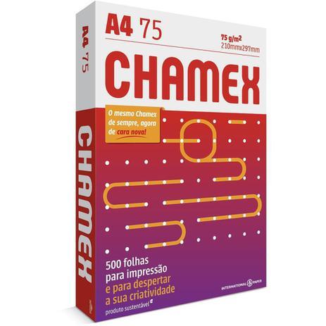Imagem de Papel Chamex A4 500 Folhas Por Resma Sulfite Office 75g Para Impressão 210mmx297mm Branco