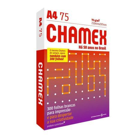Imagem de Papel Chamex A4 Sulfite 75g Resma de 300 Folhas