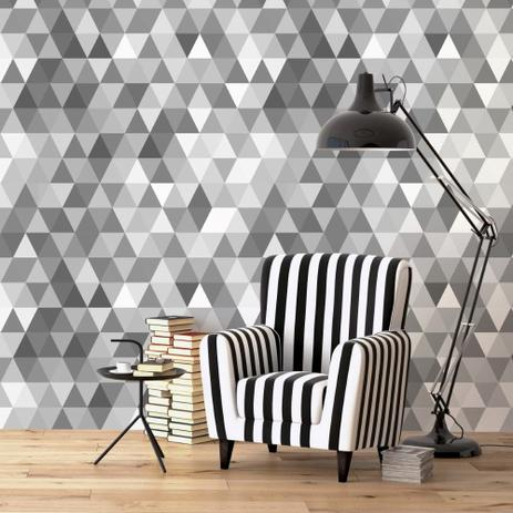 a56f28152 Papel de Parede Adesivo Geométrico Mosaico Cinza - Stickdecor ...