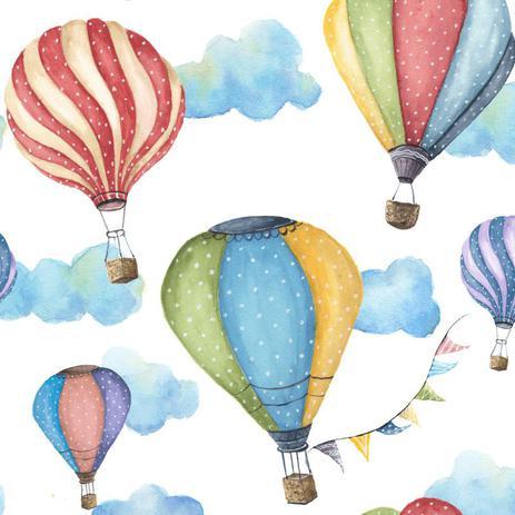 Imagem de Papel de Parede Bebê Quarto Infantil Balão Balões N3975