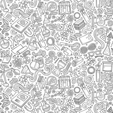 Papel De Parede Desenho Para Colorir Science 2 70x0 57m