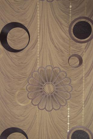 Imagem de Papel de parede importado vinílico lavável 53cm x 10m marrom e dourado