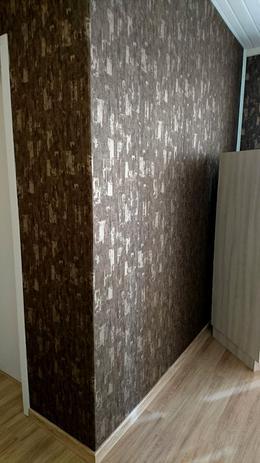 Imagem de Papel de parede importado vinílico lavável marrom dourado