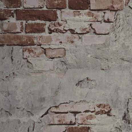 c38dd0270 Papel de Parede Textura Tijolinho Demolição 3D Laranja - Marca própria