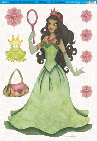 Imagem de Papel Decoupage Especial Princesa PDE-002 Litoarte