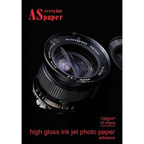 8c695e284 Papel Fotografico Inkjet A4 High Glossy Adesivo 130G Pct.C 20 Usa - Folien  Brasil