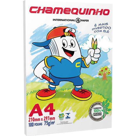 Imagem de Papel Ofício A4 100 Folhas Chamequinho Chamex