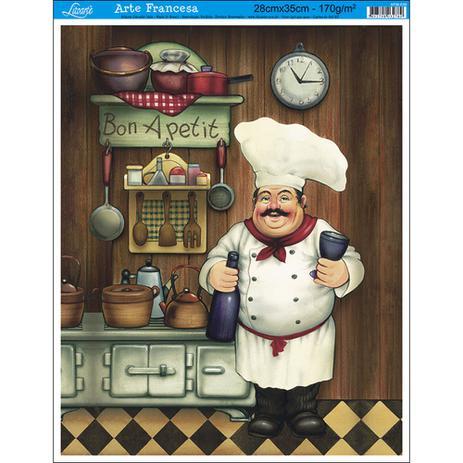 Imagem de Papel para Arte Francesa Litoarte 28 x 35 cm - Modelo AFM-036 Cozinheiro I - BA