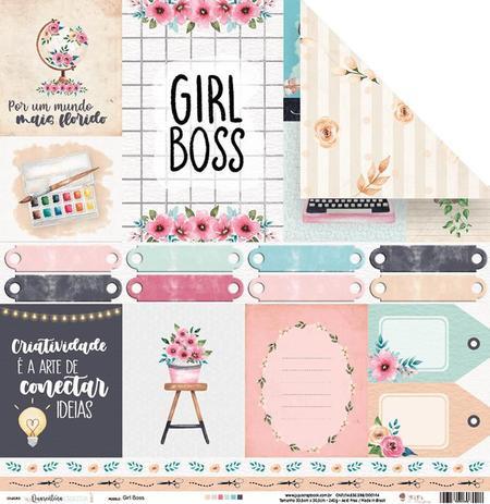 Imagem de Papel Scrapbook - Quarentena Criativa - Girl Boss - 10823 - Juju Scrapbook