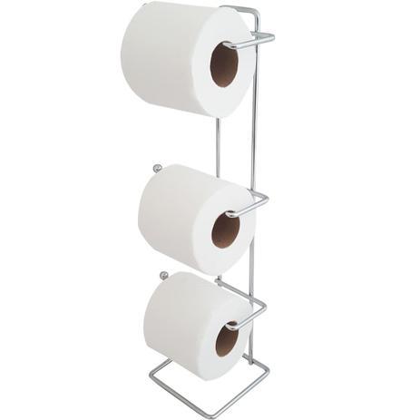 Imagem de Papeleira Para Banheiro Porta Papel Higiênico De Chão Lavabo