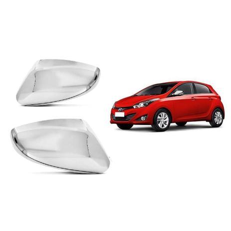Imagem de Par Aplique Cromado Retrovisor HB20 2012 2014 Hyundai Com Pisca - Lado Direito e Esquerdo