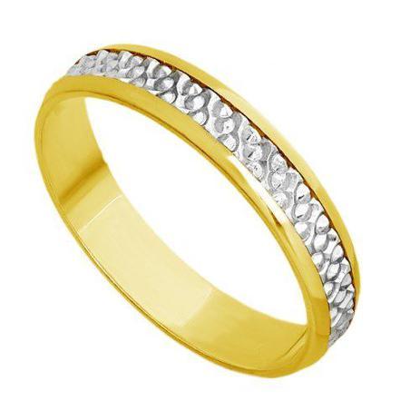 Par de Aliança Casamento em Ouro 18k Bodas de Prata abp20 - Joiasgold c53eca3c59