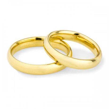 Par De Aliança Casamento Ouro 18k Air Comfort Anatômica Ta39a Joiasgold